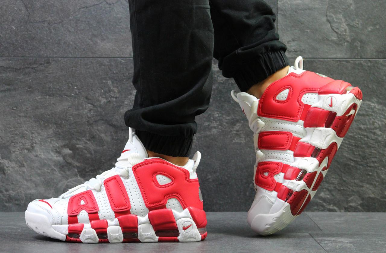 ec542981 Кроссовки Nike Air More Uptempo 96, белые с красным, мужские -  Интернет-магазин