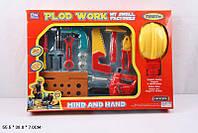 Набор строителя, Набор инструментов 8001-6 с каской, Игровой набор для мальчика, Игрушечные инструменты