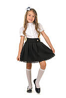 Стильная школьная юбка для девочки в черном цвете