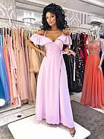 Легкое нарядное платье в полФасона «На запах», юбка клёш