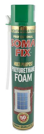 Пена монтажная SOMA FIX ручная 750 мл, всесезонная, фото 2