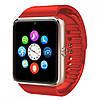 Умные часы телефон Smart Watch GSM GT08 , смарт часы с sim, SD картой Red