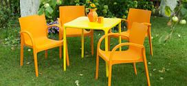 Мебель пластиковая для сада и кафе