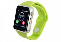Умные часы телефон Smart Watch GSM A1  , смарт часы с sim, SD картой Green