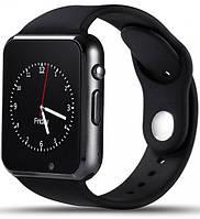 Умные часы телефон Smart Watch GSM A1  , смарт часы с sim, SD картой Black