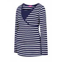 Трикотажная блузка в полоску  для беременных и кормящих, фото 1