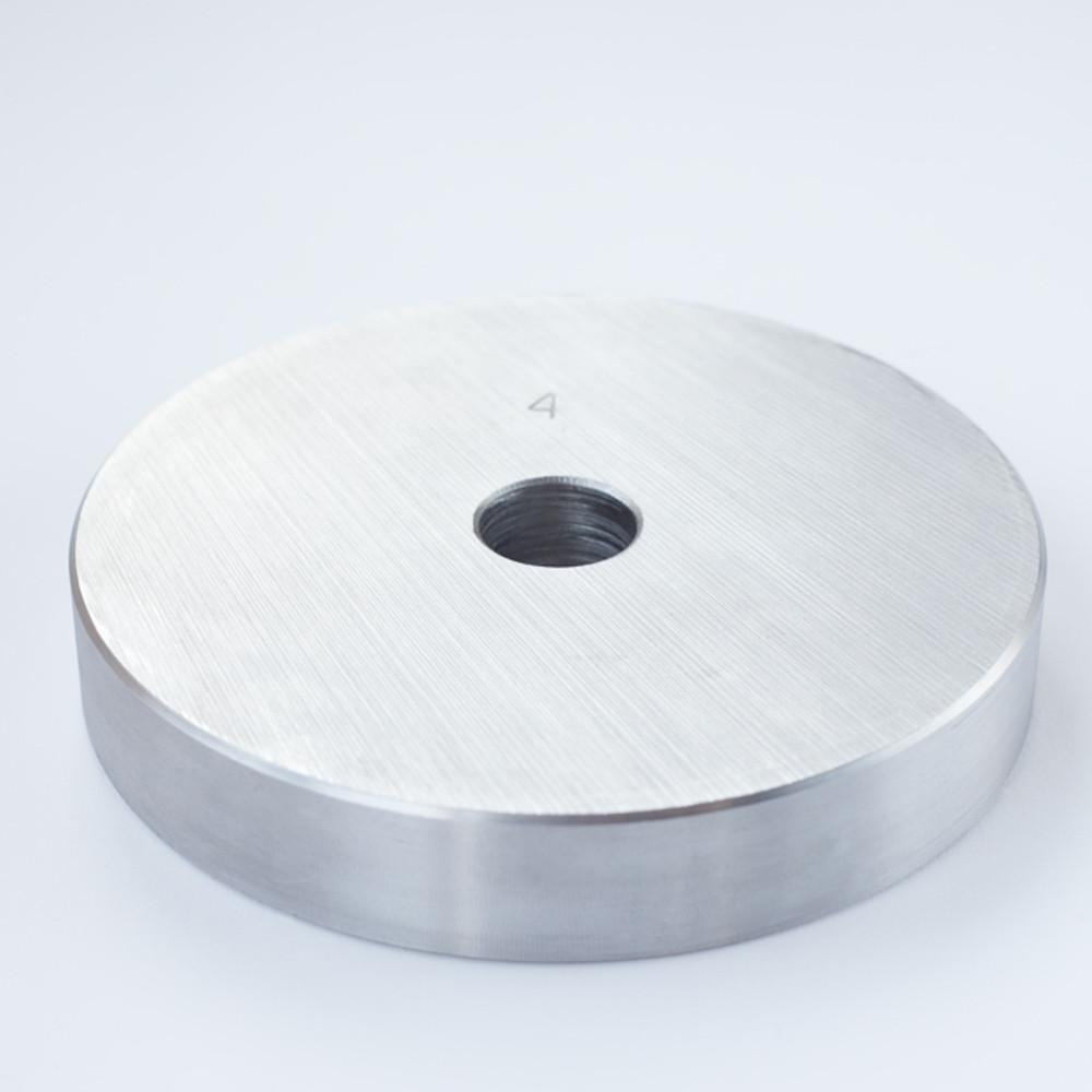 Блин для штанги или гантелей 4 кг металлический (диски утяжелители, млинець металевий)