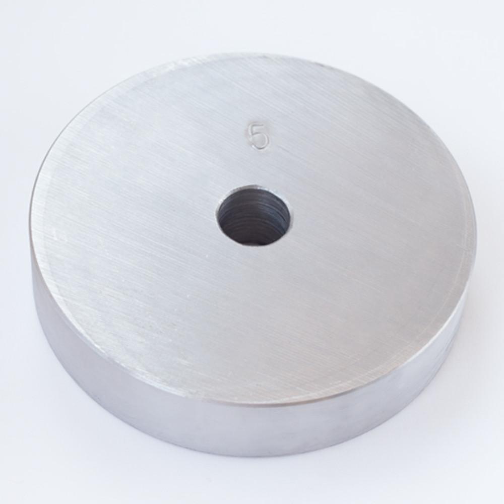 Блин диск для штанги или гантелей 5 кг металлический утяжелитель