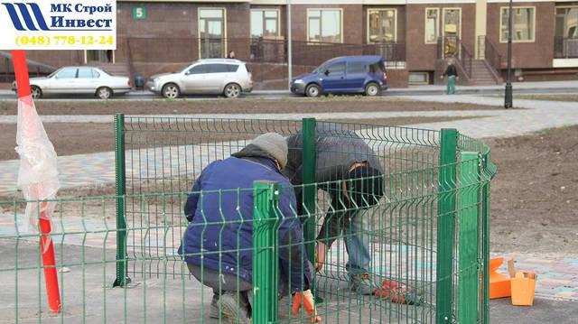 """Ограждение спорт площадки г.Одесса """"Кадорр Групп"""" 15"""