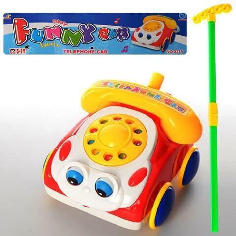 Каталка Машинка-телефон 1187(0315) PLAY SMART