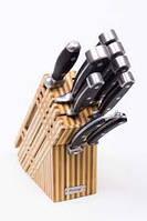 Набор металлических ножей с деревянной подставкой Rossler MR26.
