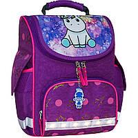 Украина Рюкзак школьный каркасный с фонариками Bagland Успех 12 л. фиолетовый 428 (00551703)