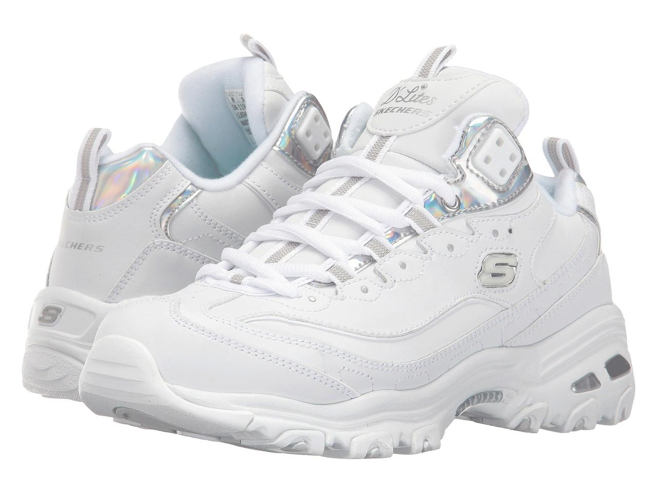63af5a87e539 Кроссовки SKECHERS D Lites - Style Rethink White Silver - Оригинал ...