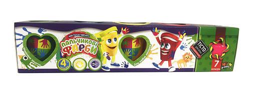 Набор креативного творчества пальчиковые краски 4 баночки + тесто для лепки PK-03-01, фото 2