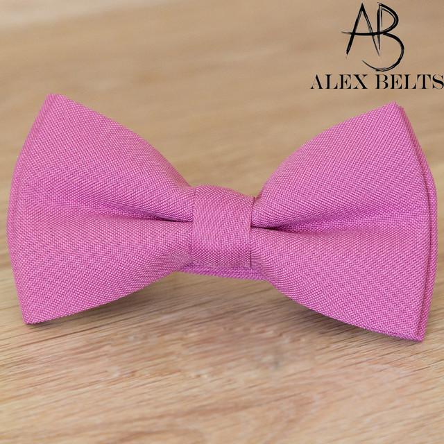Бабочка розовая детская однотонная, галстуки бабочки оптом