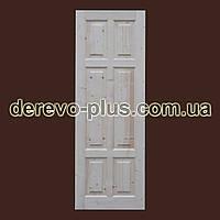 Двері з масиву дерева 70см (глухі) f_0170