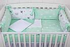 """Детская постель с бортиками-подушками 33*60 см """"Мятные короны"""", фото 3"""
