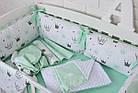 """Детская постель с бортиками-подушками 33*60 см """"Мятные короны"""", фото 4"""