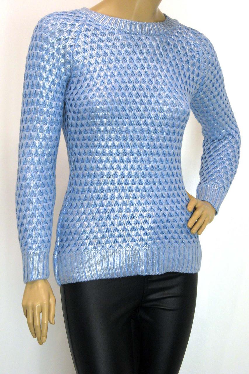 Жіноча голуба кофта із срібним напиленням Portofino