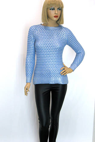 Жіноча голуба кофта із срібним напиленням Portofino  , фото 2
