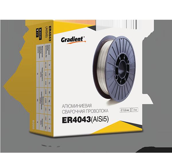 Сварочная проволока ER4043 0,8мм (2кг) Gradient
