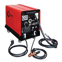 Сварочный полуавтомат 230 В, 7.5 кВт, 40-180 А, проволка 0.6-0.8 мм, гарантия 1 год, 34 кг, Intertool DT-4319