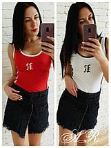 Коротка джинсова спідниця-шорти із завищеною талією 42-46 р, фото 3