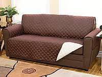 Покрывало-накидка на диван двустороннее Couch Coat Коричневый, фото 2