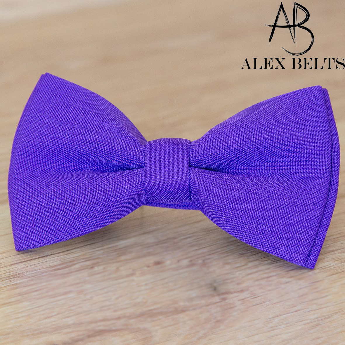 Бабочка детская фиолетовая однотонная