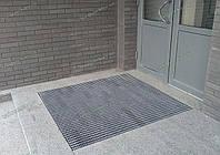 Ковер грязезащитный резиновый 90х120см Волна-19 для улицы серый