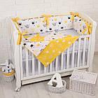 """Детская постель с 6 бортиками-подушками 33*60 см, сменной постелькой, одеялом и подушкой """"Жёлтые короны"""", фото 7"""
