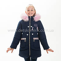 "Зимняя куртка для девочки ""Кошка"", Зима 2019 года, фото 1"