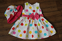 """Яркое летнее платье на девочку """" Цветные кружочки"""""""