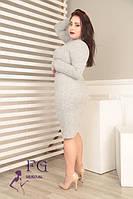 Платье-гольф из ангоры больших размеров 50-54
