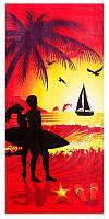 "Пляжное полотенце ""Пальмы на закате"""