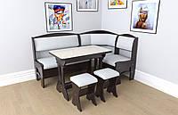 Кухонный уголок+стол+табуретки Софи 2 Летро венге