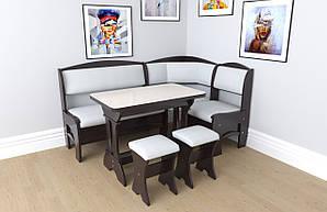 Кухонний куточок + стіл + табурети (2шт) Софі 2 Летро венге
