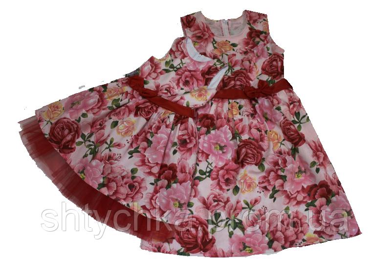 """Нарядные платья на маму и доченьку в стиле Фемели лук """"Розочка - цветочек"""""""
