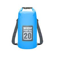 Водонепроницаемый герморюкзак 20L Aqua синий, фото 1