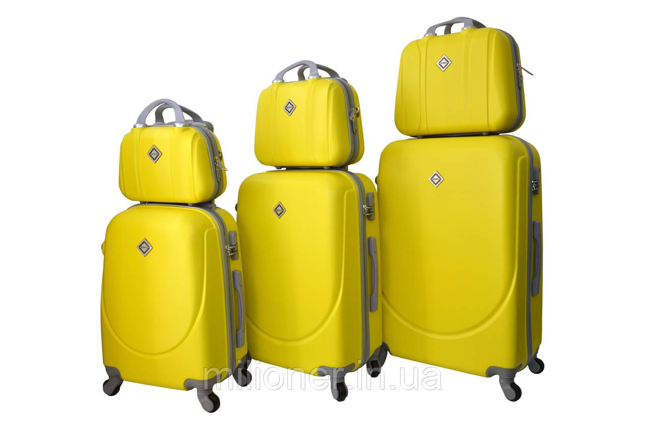 Набор чемоданов и кейсов 6в1 Bonro Smile желтый