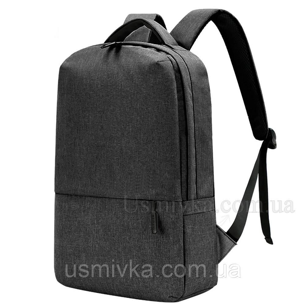 Черный городской рюкзак Shaolong + USB