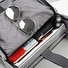 Черный городской рюкзак Shaolong + USB, фото 2