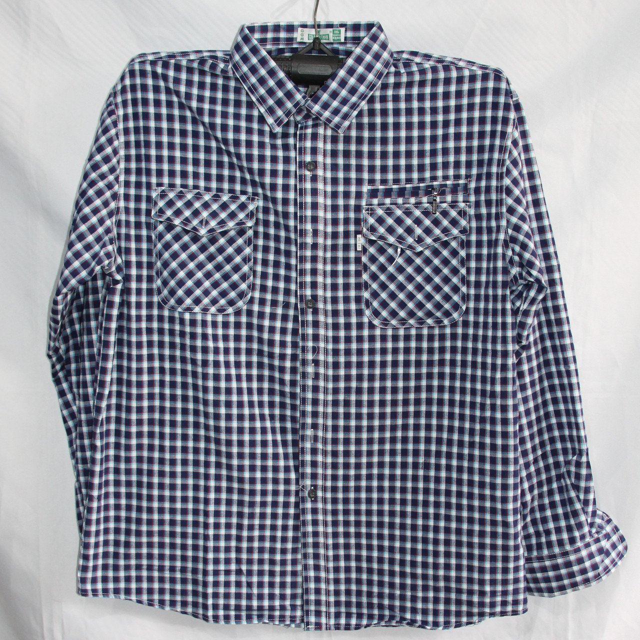 Мужская котоновая рубашка (длинный рукав) оптом со склада в Одессе