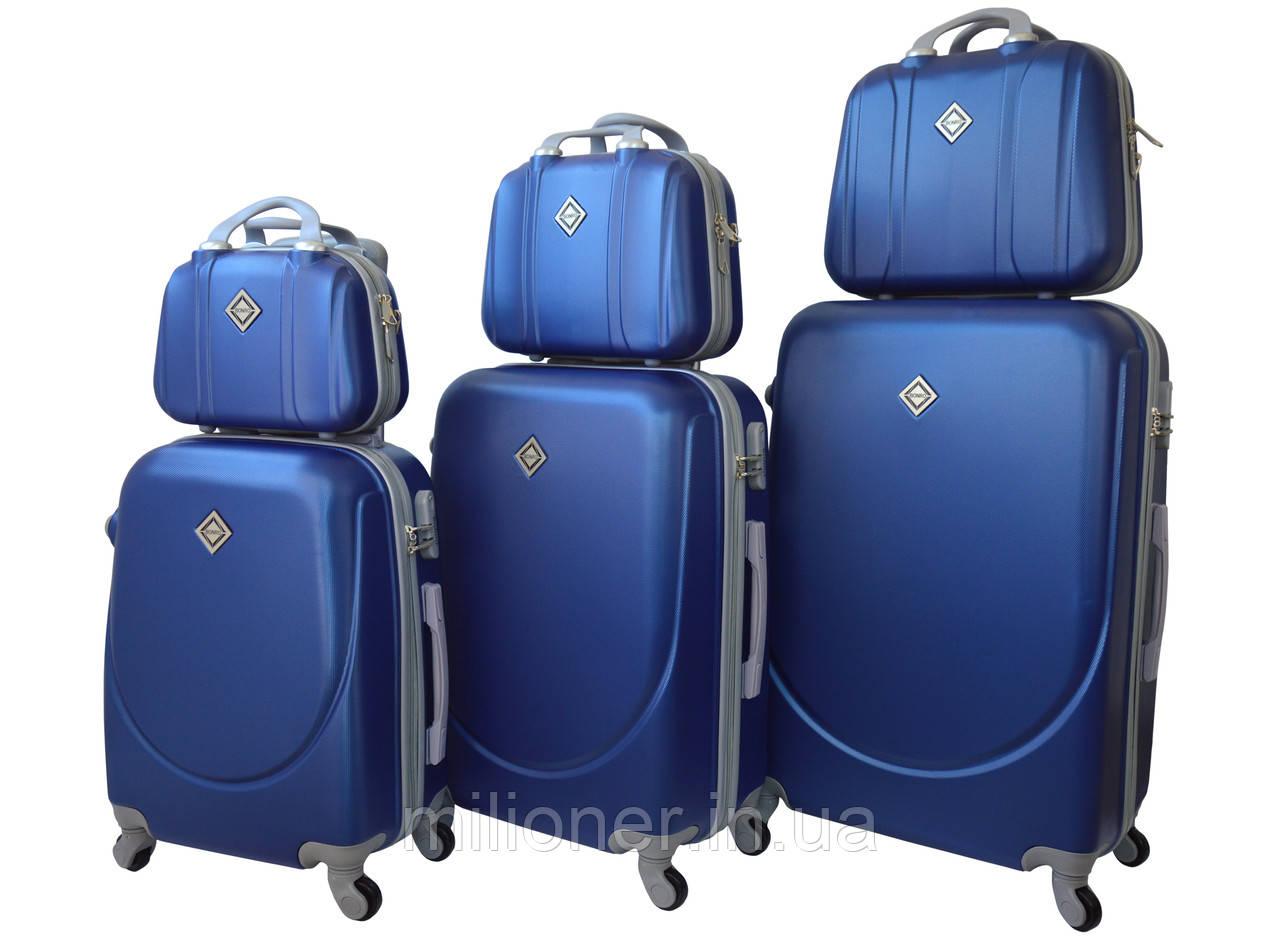 Набор чемоданов и кейсов 6в1 Bonro Smile синий