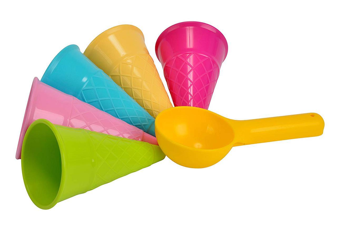 Набор формочек для игр с песком в виде рожков для мороженого