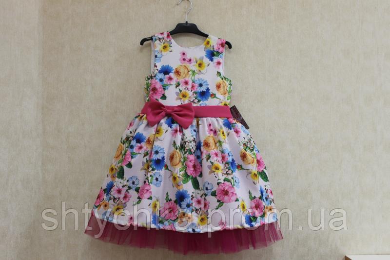 """Нарядное платье на девочку """"Анна"""" с малиновым фатином"""