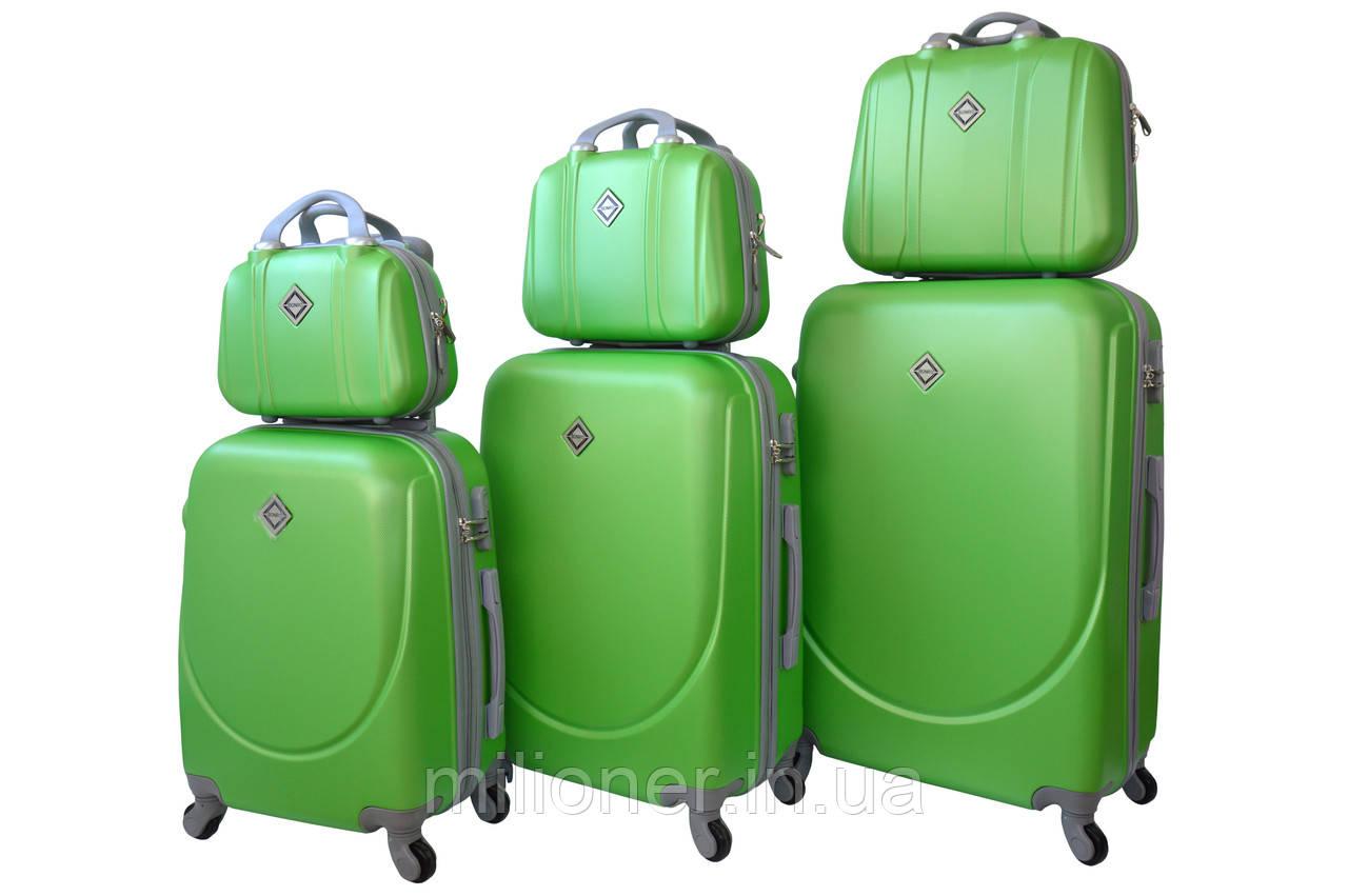 Набор чемоданов и кейсов 6в1 Bonro Smile салатовый