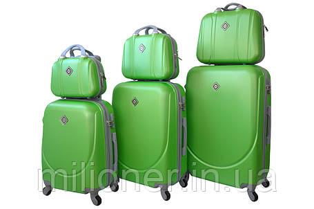 Набір валіз і кейсів 6в1 Bonro Smile салатовий, фото 2