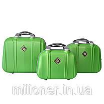 Набор чемоданов и кейсов 6в1 Bonro Smile салатовый, фото 3