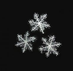 Снежинка Декоративная 11х11см (уп.3 шт)